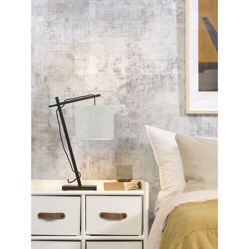 Good&Mojo-collectie Table lamp Andes bl./shade 1815 ecolin. light