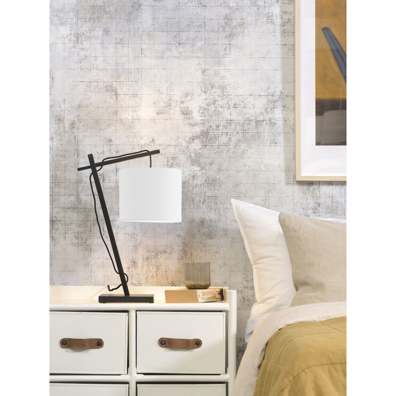 Good&Mojo-collectie Table lamp Andes bl./shade 1815 ecolin. white