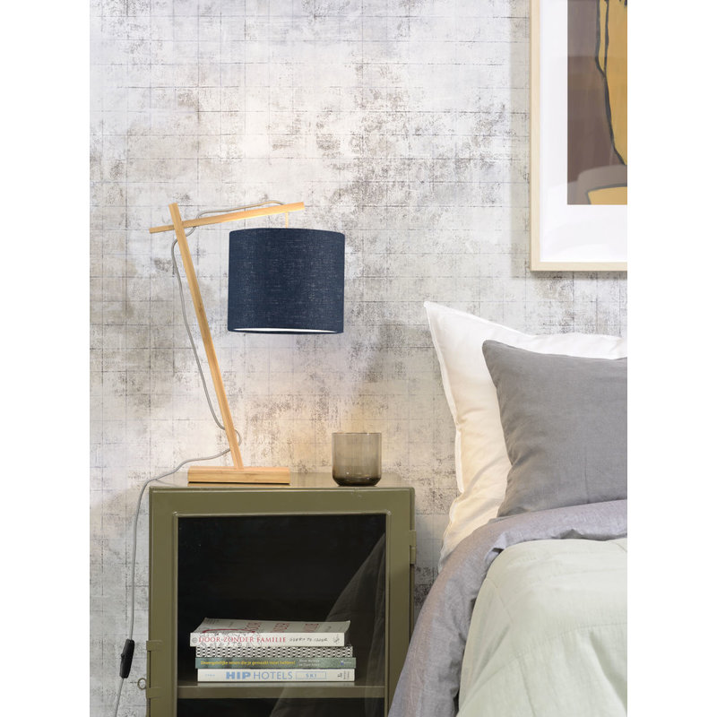 Good&Mojo-collectie Tafellamp Andes naturel/blue denim