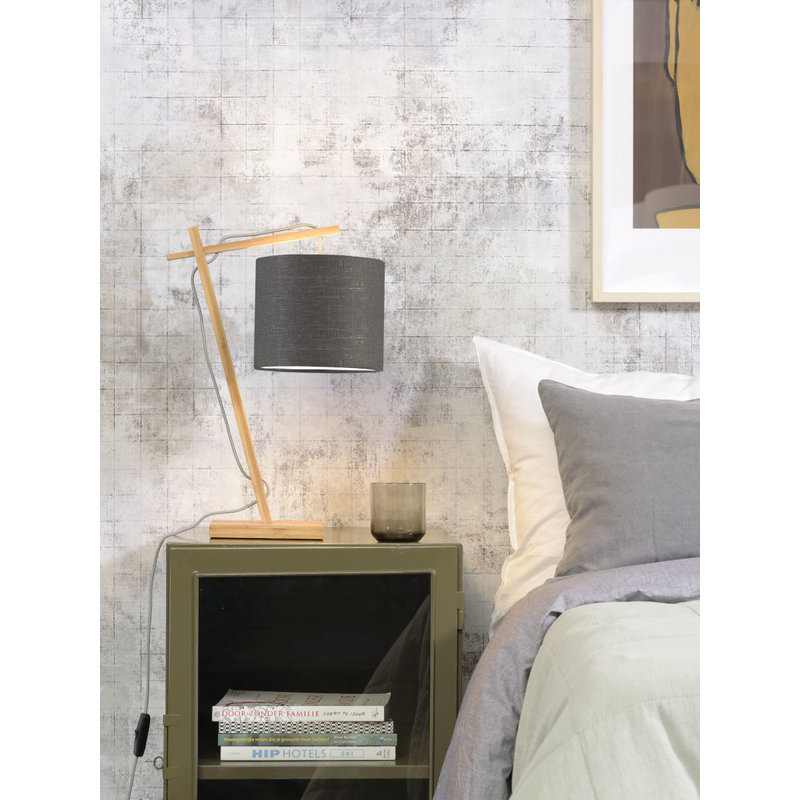 Good&Mojo-collectie Table lamp Andes nat./shade 1815 ecolin. d.grey