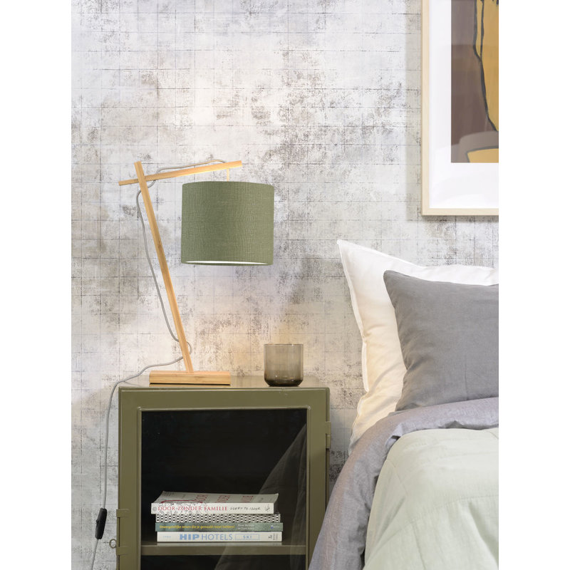 Good&Mojo-collectie Table lamp Andes nat./shade 1815 ecolin. gr.forest