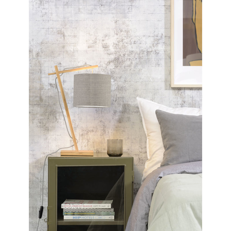 Good&Mojo-collectie Tafellamp Andes naturel/donker linnen