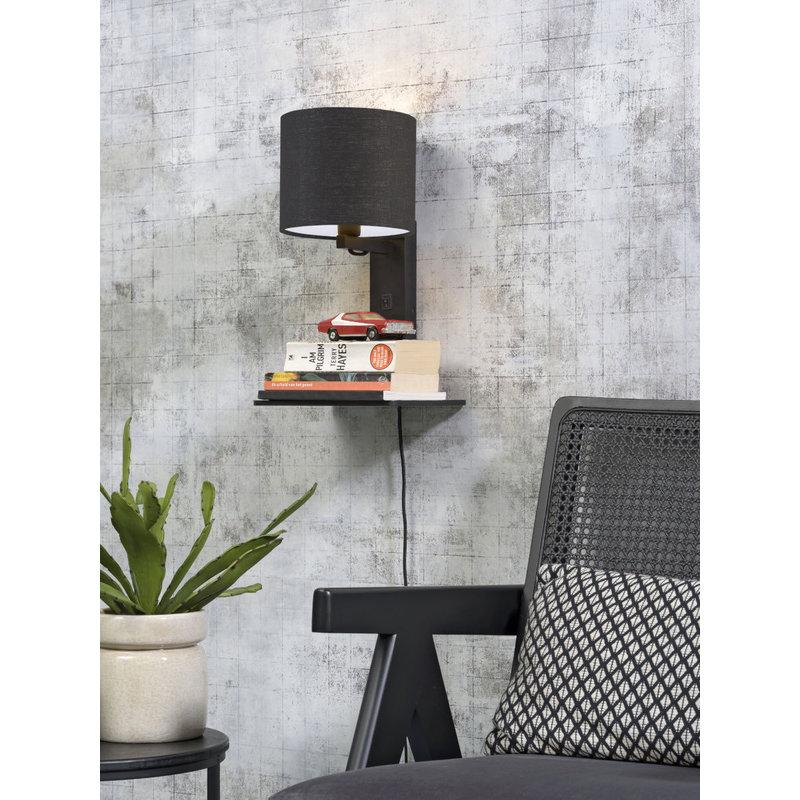 Good&Mojo-collectie Wandlamp Andes zwart/donkergrijs