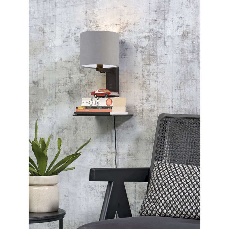 Good&Mojo-collectie Wandlamp Andes zwart/lichtgrijs