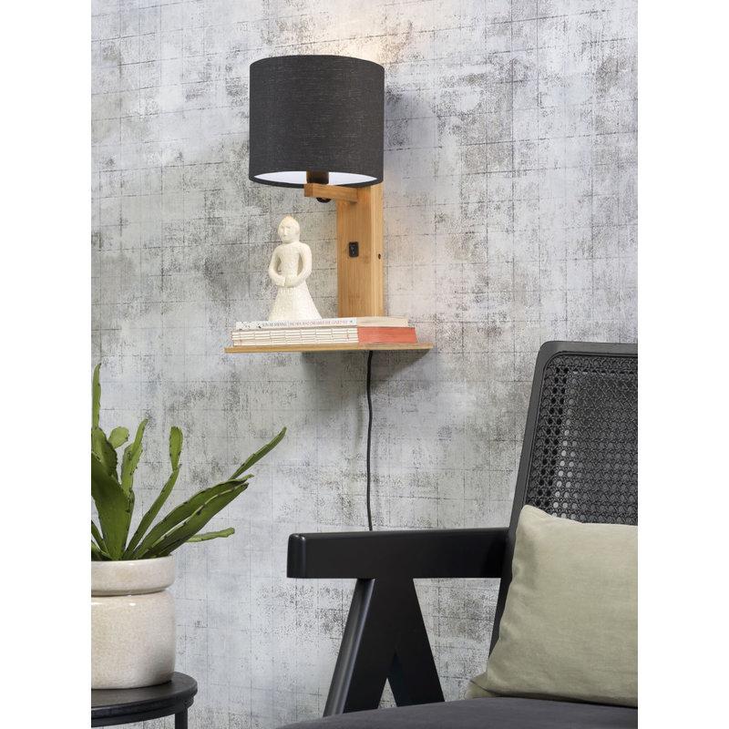Good&Mojo-collectie Wandlamp Andes naturel/donkergrijs