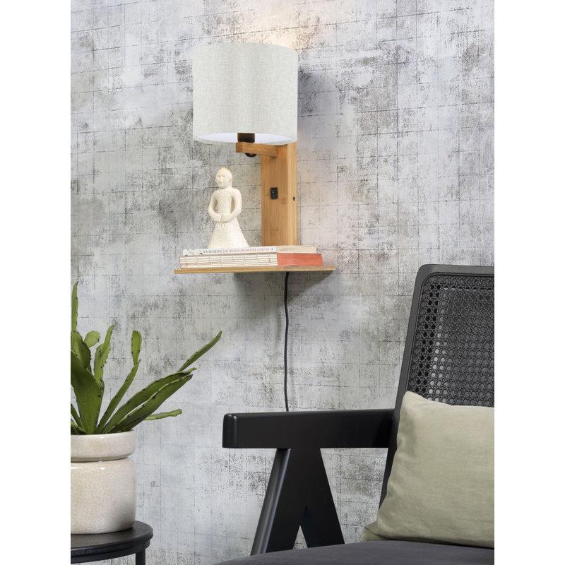 Good&Mojo-collectie Wall lamp Andes nat. shelf/shade 1815 ecolin. light