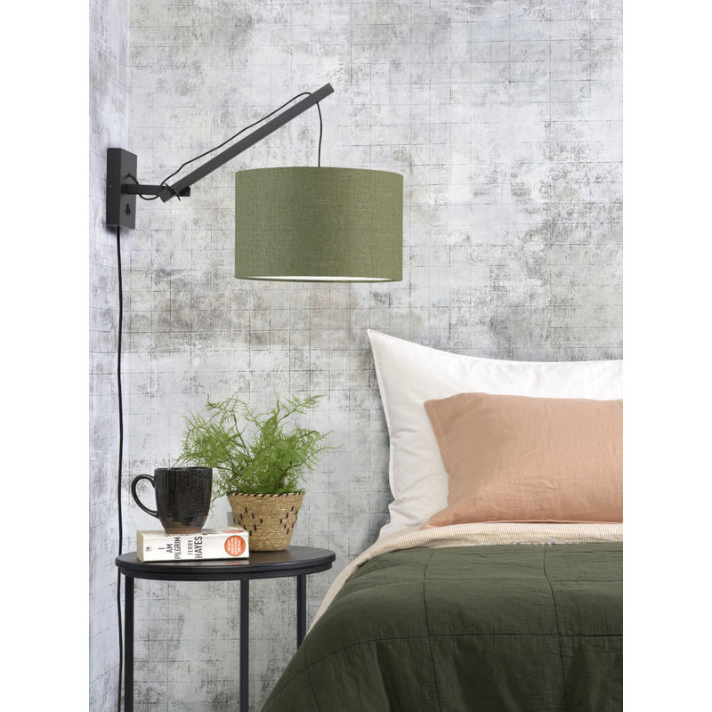Good&Mojo-collectie Wandlamp Andes zwart/green forest S