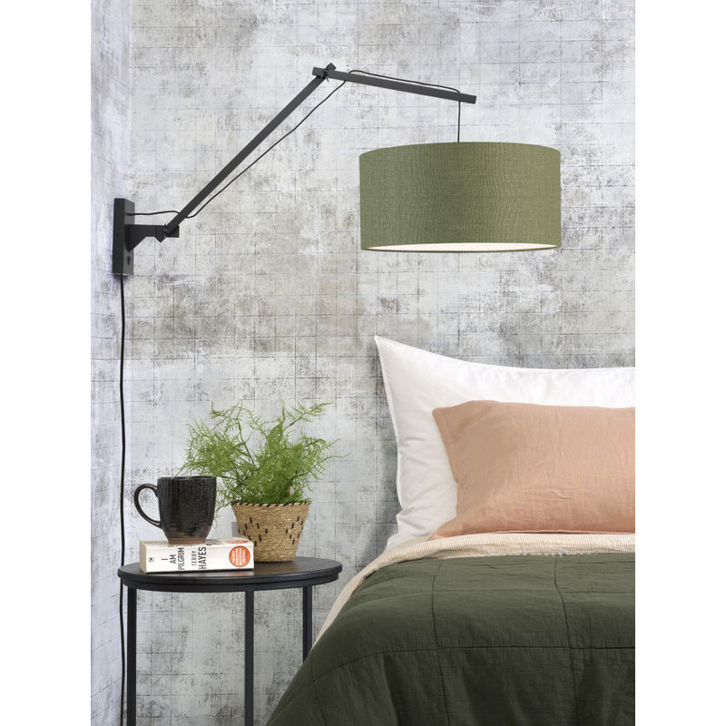 Good&Mojo-collectie Wall lamp Andes bl./shade 4723 ecolin. gr.forest, L