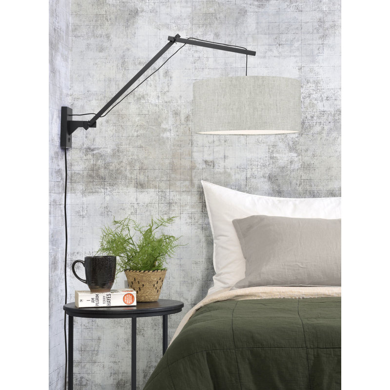 Good&Mojo-collectie Wall lamp Andes bl./shade 4723 ecolin. light, L