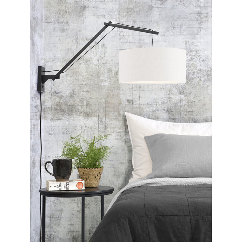 Good&Mojo-collectie Wall lamp Andes bl./shade 4723 ecolin. white, L