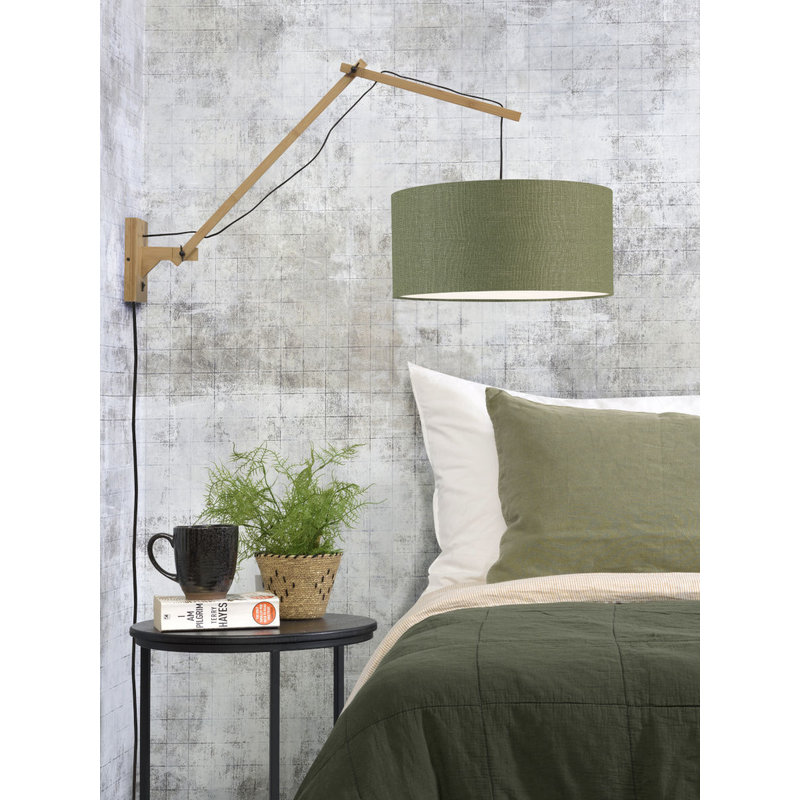 Good&Mojo-collectie Wandlamp Andes naturel/green forest L
