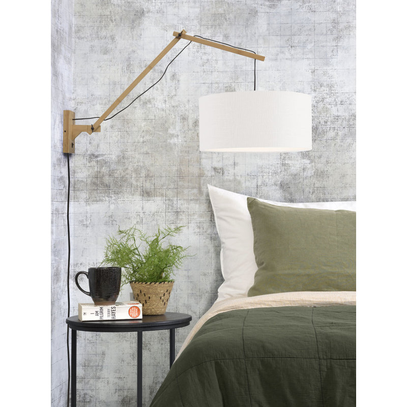 Good&Mojo-collectie Wall lamp Andes nat./shade 4723 ecolin. white, L