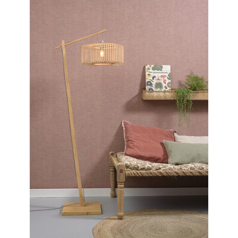 Good&Mojo-collectie Vloerlamp Bromo naturel h.176 rond S