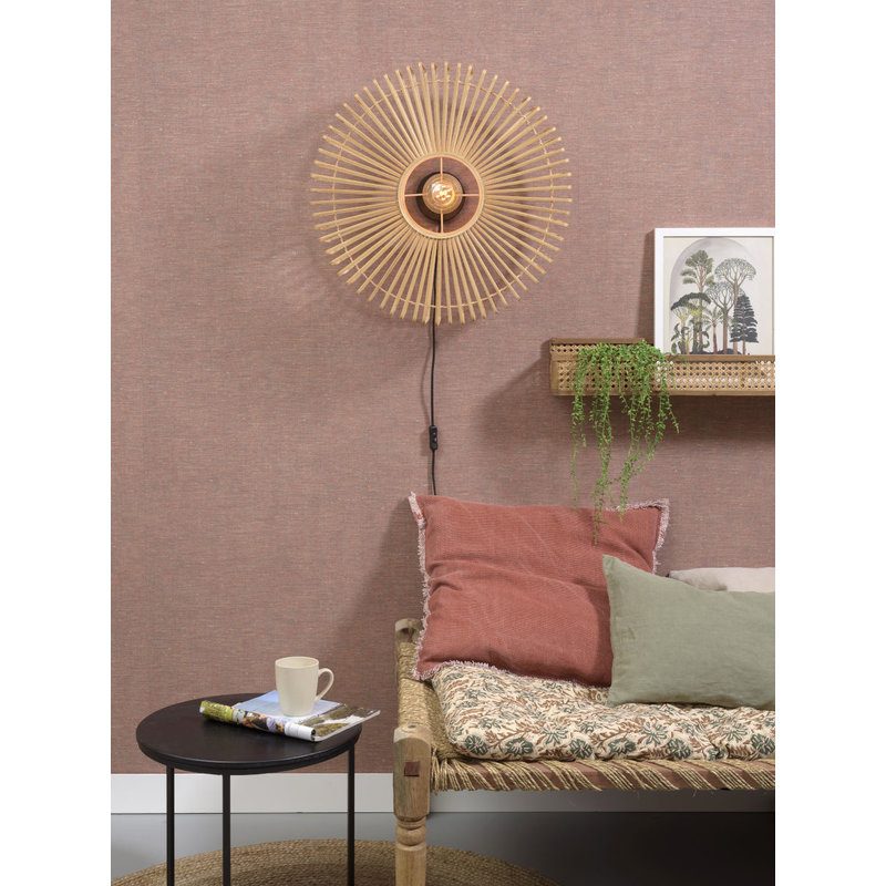 Good&Mojo-collectie Wall lamp Bromo round dia.60x18cm natural, L