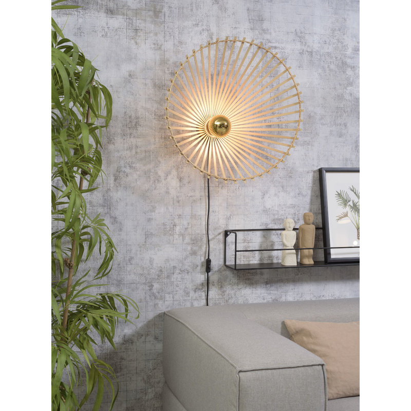 Good&Mojo-collectie Wall lamp Bromo asymm. dia.60x13cm natural, L