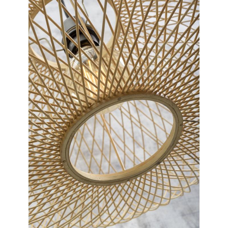 Good&Mojo-collectie Ceiling lamp Cango ellipse dia.60x25cm natural