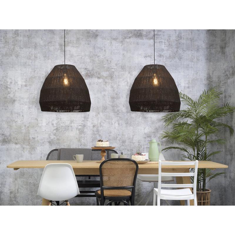 Good&Mojo-collectie Hanging lamp Iguazu jute tapered dia.60x50cm, black