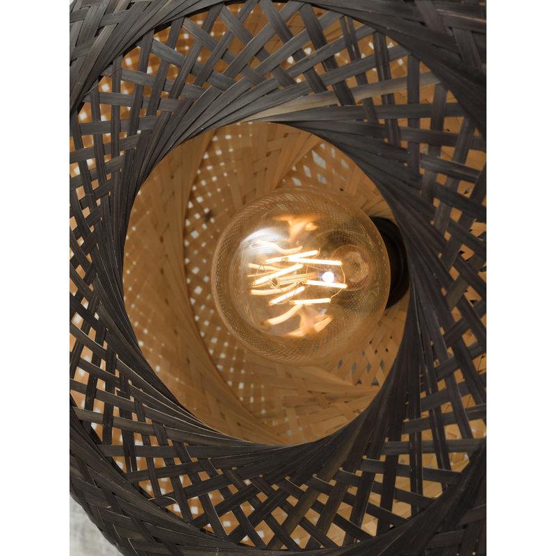 Good&Mojo-collectie Plafonniere Palawan naturel/zwart S