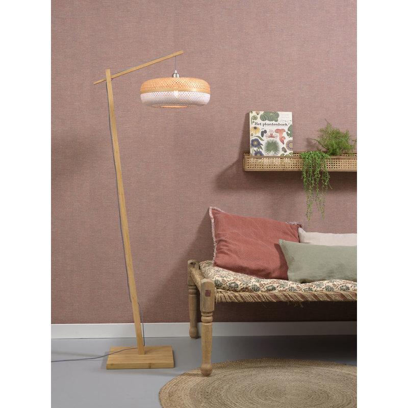 Good&Mojo-collectie Floor lamp Palawan nat. h.176cm/shade 40x15cm nat/wh.