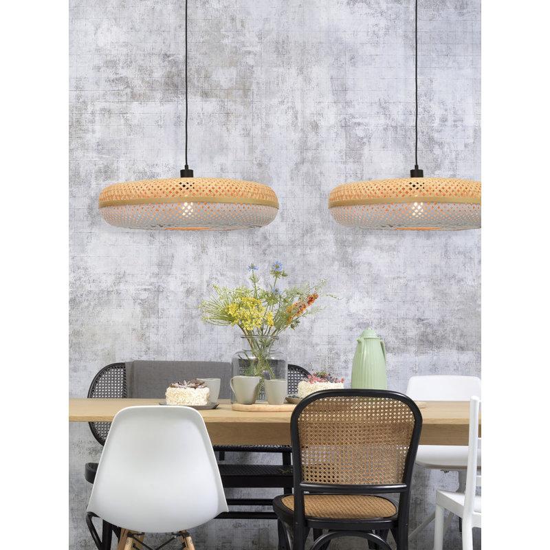 Good&Mojo-collectie Hanging lamp Palawan 60x15cm nat./white L