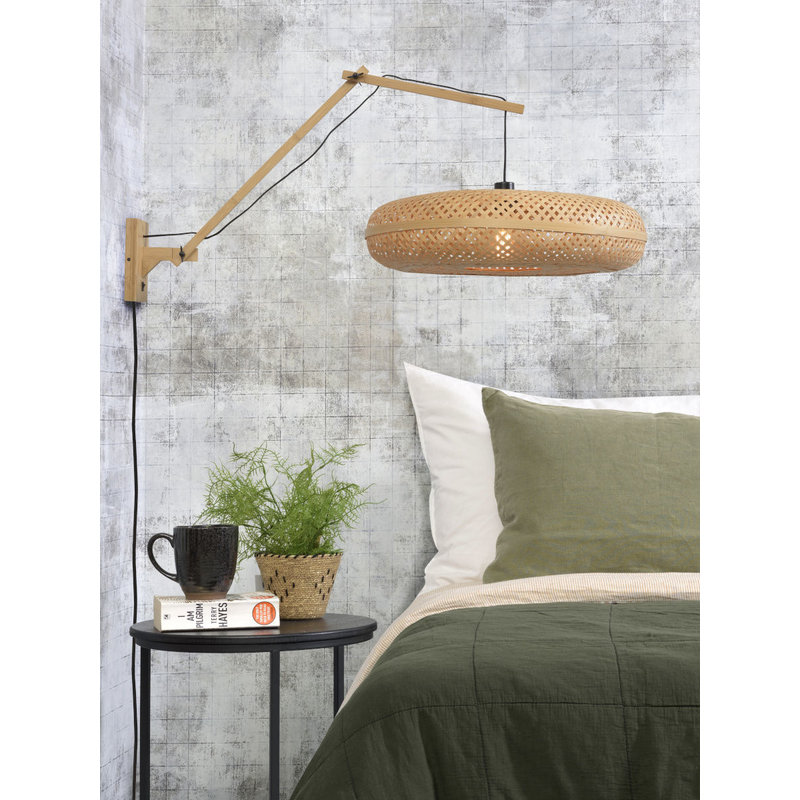 Good&Mojo-collectie Wall lamp Palawannat./shade dia.60x15cm nat, L