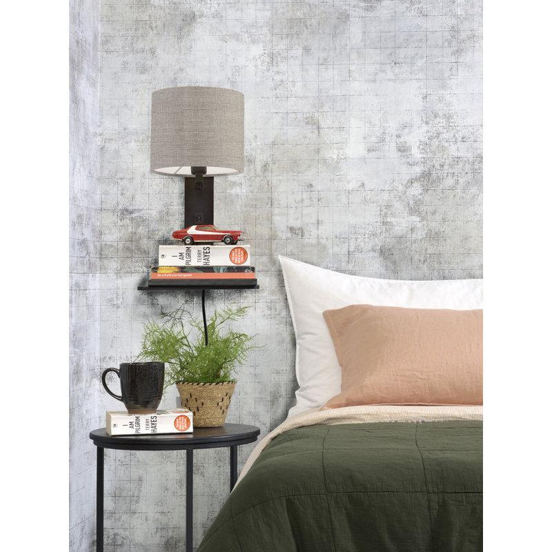 Good&Mojo-collectie Wall lamp Andes bl. shelf/shade 1815 ecolin. dark