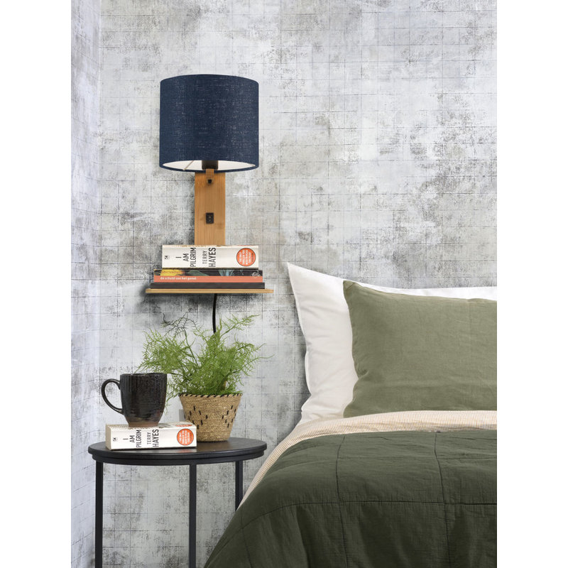 Good&Mojo-collectie Wandlamp Andes naturel/blue denim