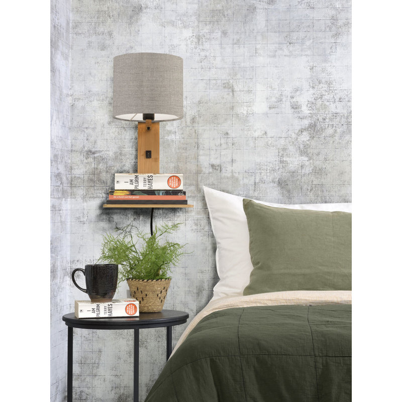 Good&Mojo-collectie Wandlamp Andes naturel/donker linnen