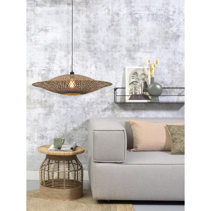 Good&Mojo-collectie Hanglamp Bali 87cm zwart/naturel L