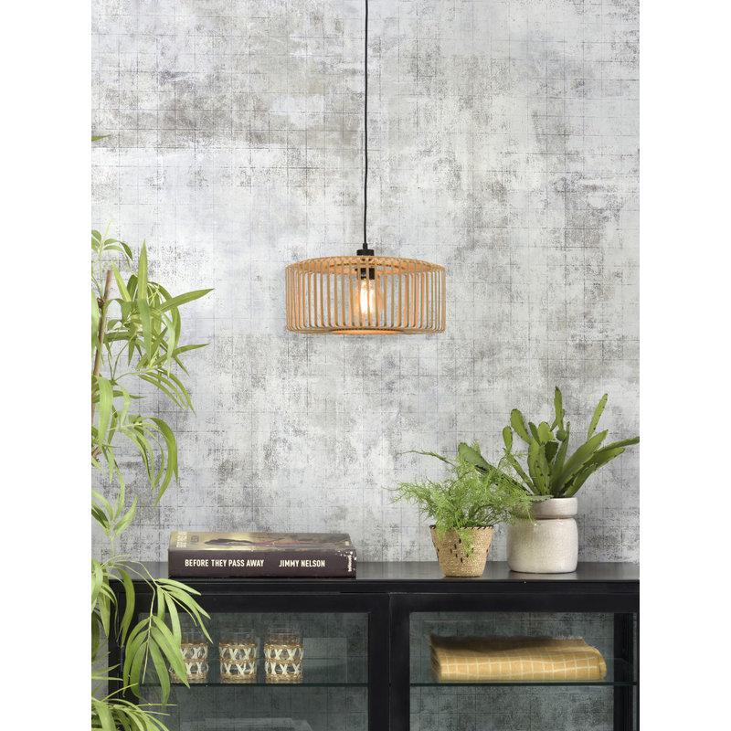 Good&Mojo-collectie Hanging lamp Bromo round dia.40x18cm natural, S