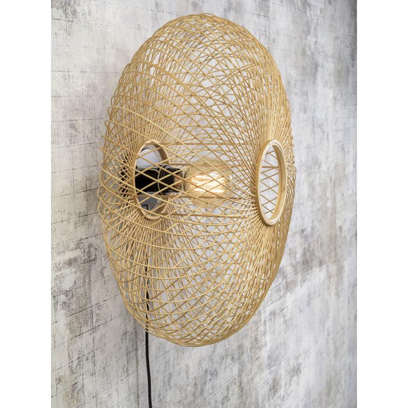 Good&Mojo-collectie Wall lamp Cango ellipse dia.60x25cm natural