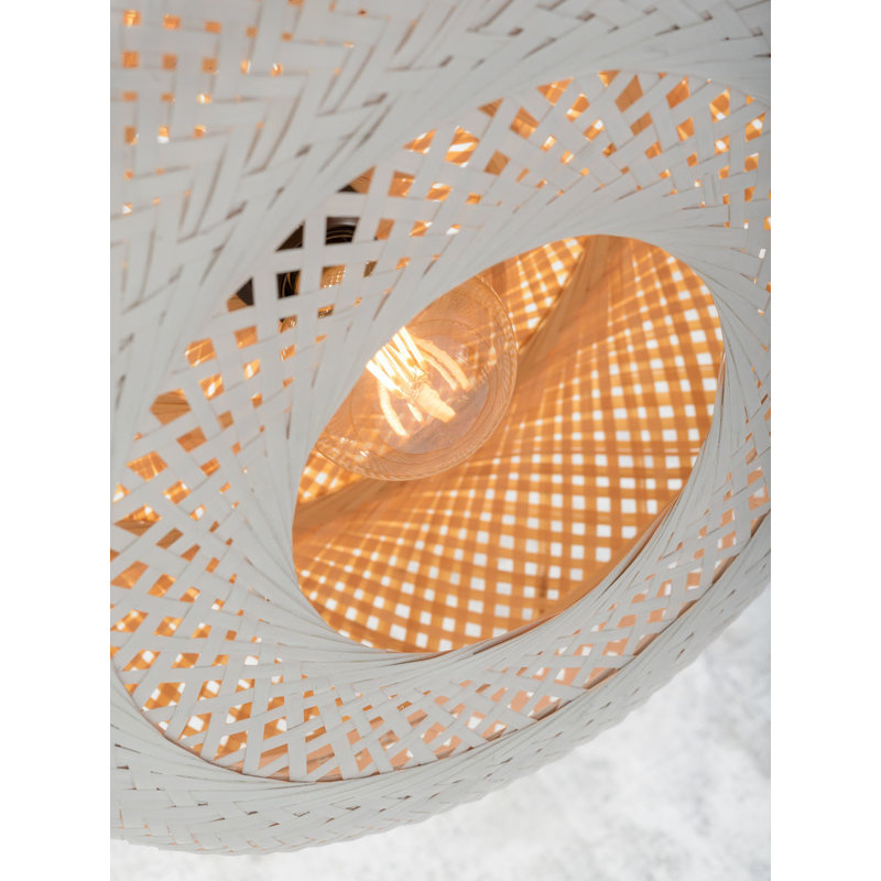 Good&Mojo-collectie Ceiling lamp Palawan 40x15cm, nat./white, S