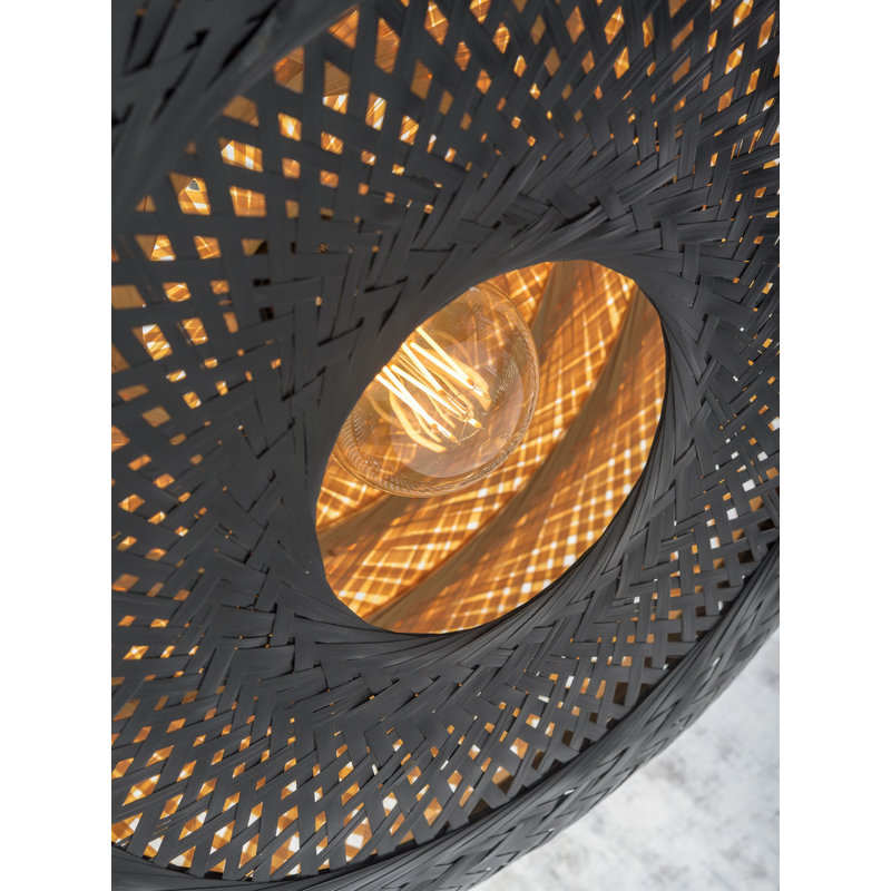 Good&Mojo-collectie Ceiling lamp Palawan 60x15cm nat./black, L