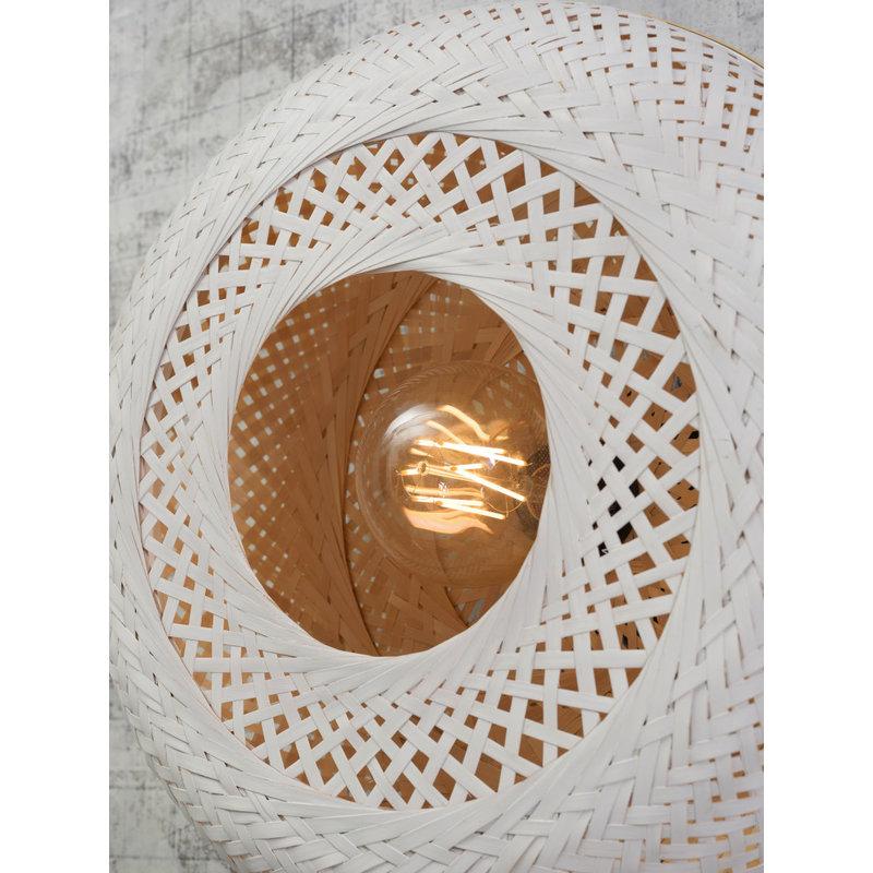 Good&Mojo-collectie Plafonniere Palawan naturel/wit L