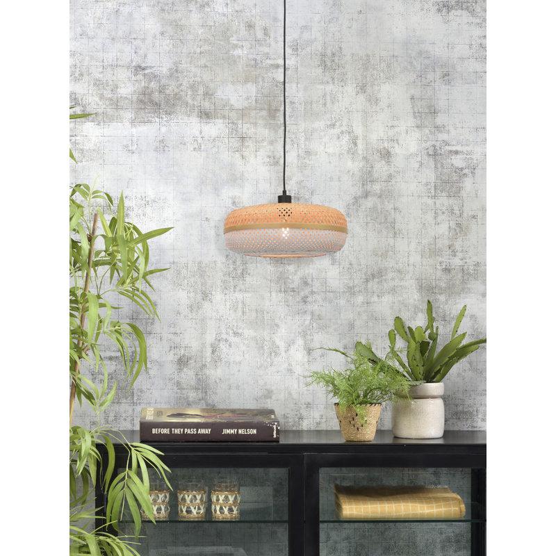 Good&Mojo-collectie Hanging lamp Palawan 40x15cm nat./white, S