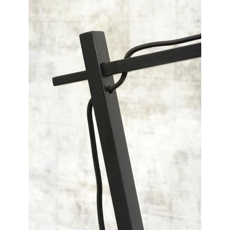 Good&Mojo-collectie Tafellamp Andes zwart/donker linnen