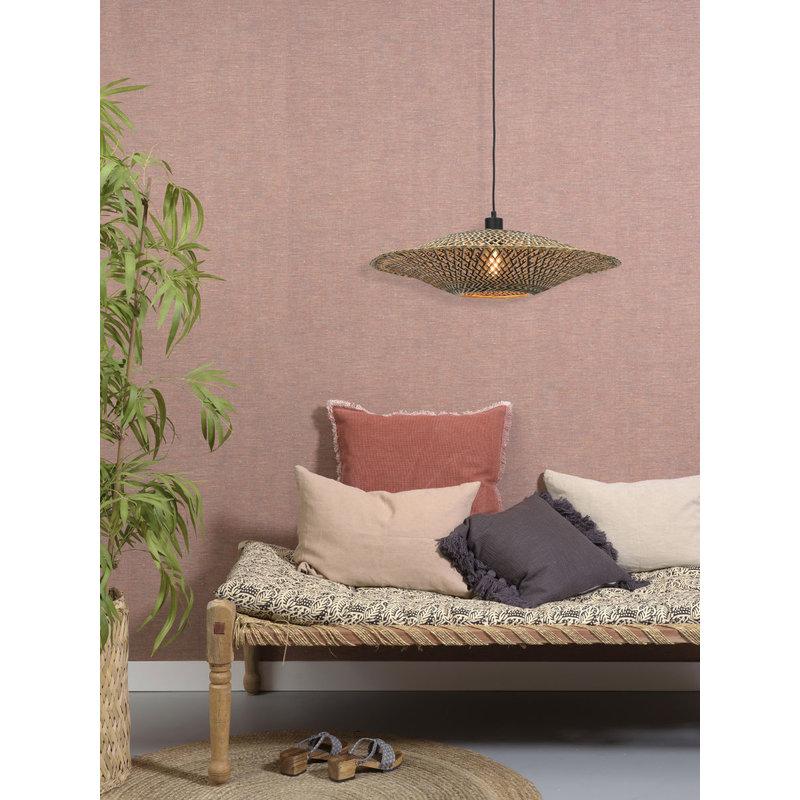 Good&Mojo-collectie Hanging lamp Bali horiz. 60x15cm black/natural, M