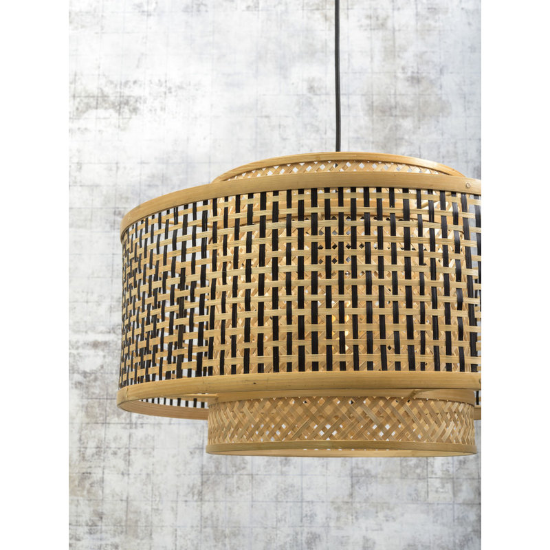 Good&Mojo-collectie Wall lamp Bhutan bl./shade 50x30cm bl./natural, L