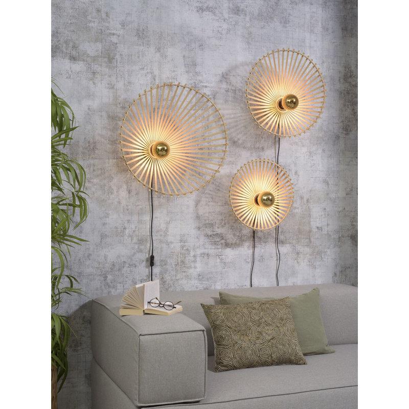 Good&Mojo-collectie Wall lamp Bromo asymm. dia.40x11cm natural, S