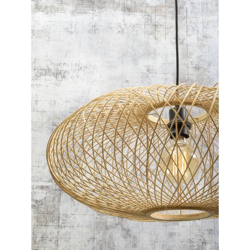 Good&Mojo-collectie Floor lamp Cango nat. h.176cm/shade 60x25cm black