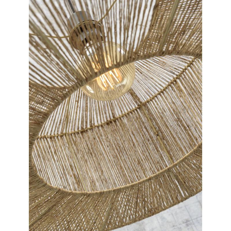 Good&Mojo-collectie Ceiling lamp Iguazu jute round dia.50x22cm natural, S