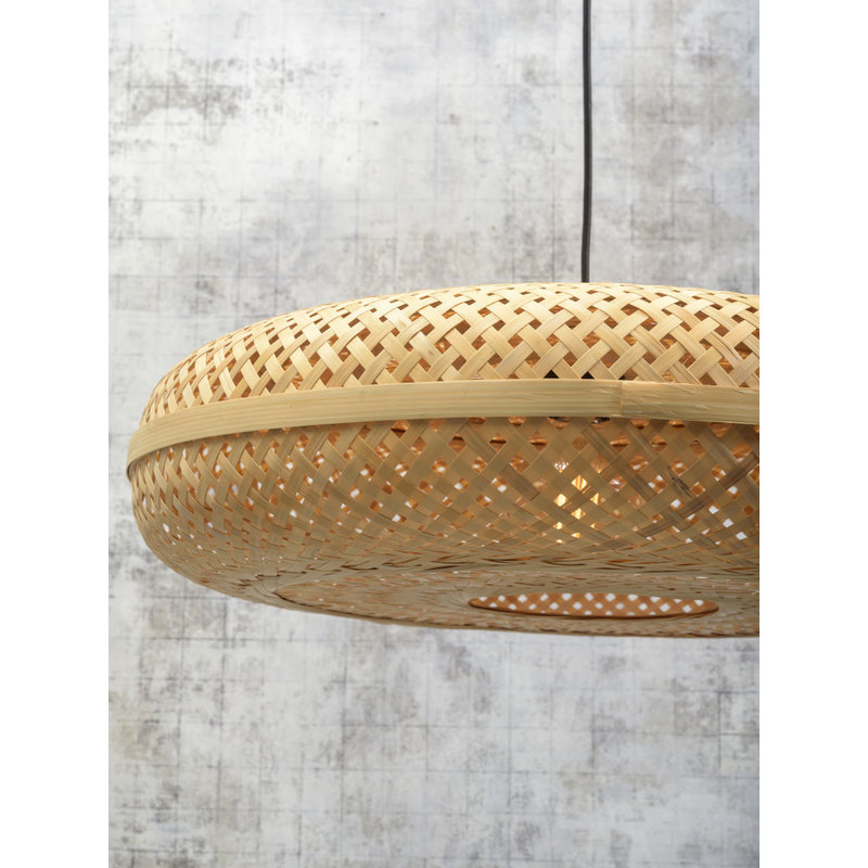Good&Mojo-collectie Wall lamp Palawan bl./shade 60x15cm nat, L