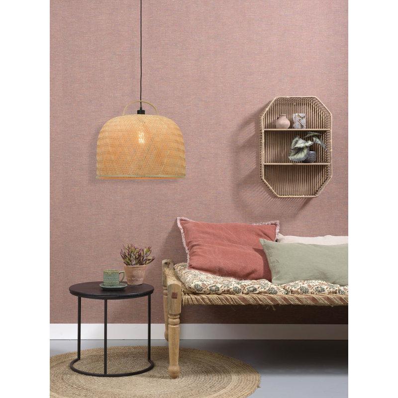 Good&Mojo-collectie Hanging lamp Serengeti /handle dia.50x44cm natural, L