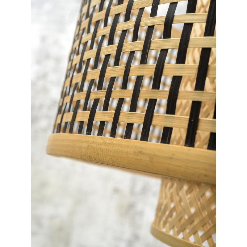 Good&Mojo-collectie Wandlamp Bhutan zwart/kap 5030 L