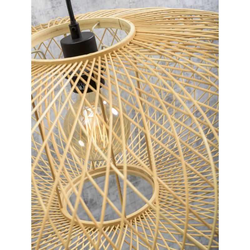 Good&Mojo-collectie Floor lamp Cango bl. h.176cm/shade 60x25cm, natural