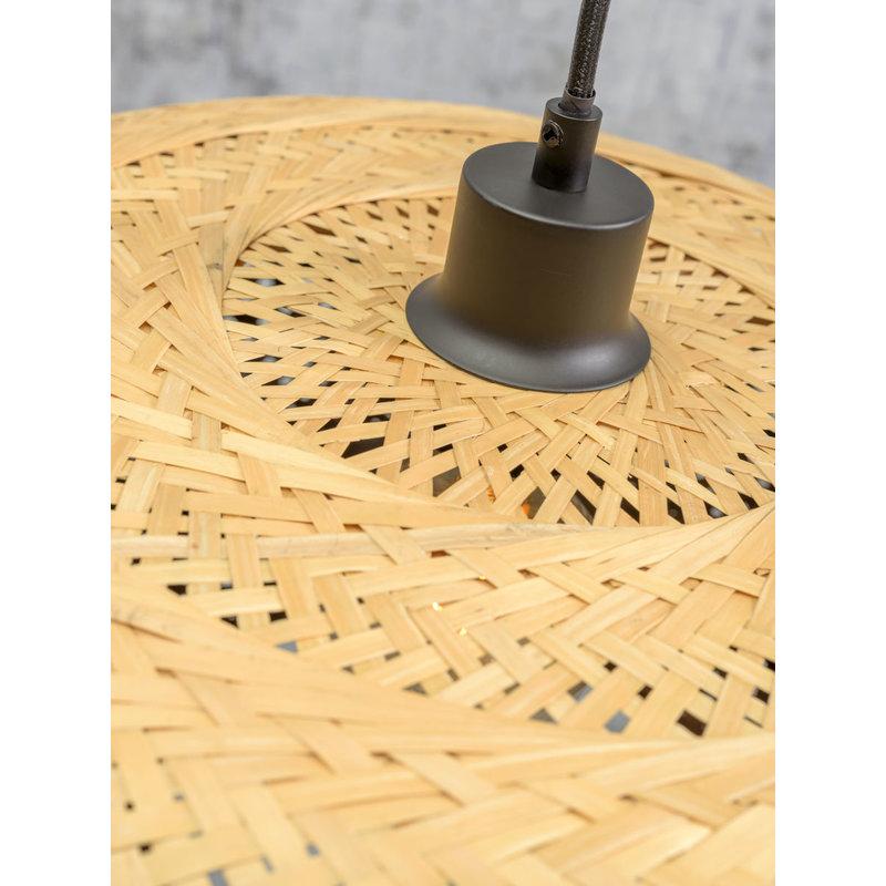 Good&Mojo-collectie Wandlamp Palawan zwart/naturel L