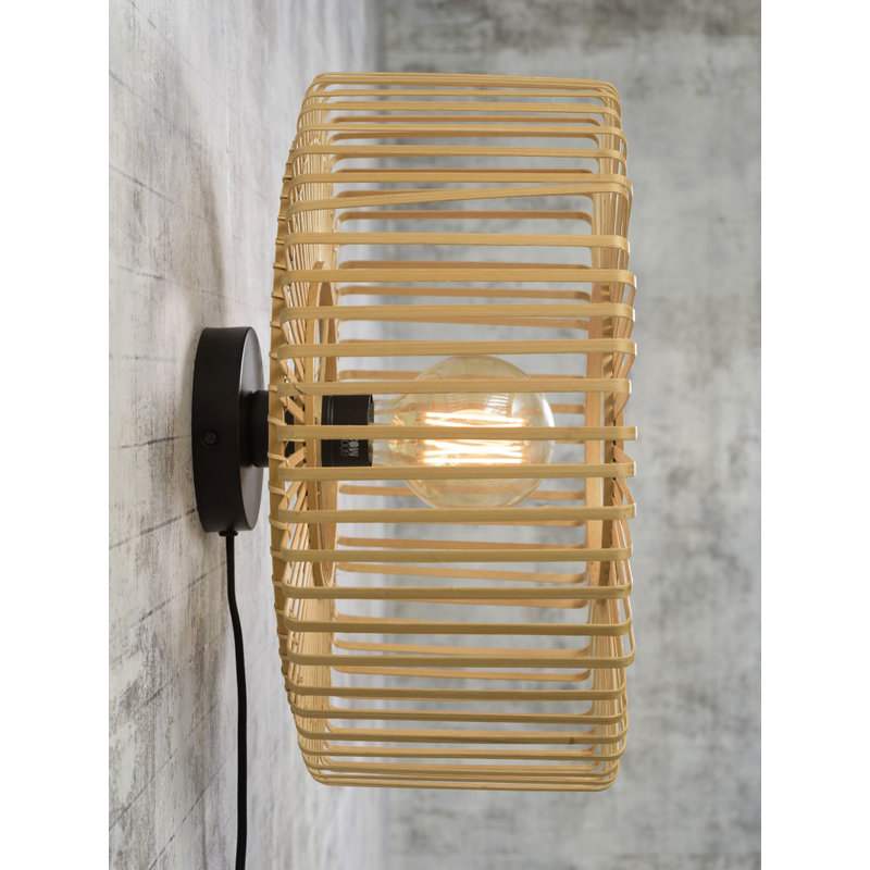 Good&Mojo-collectie Wall lamp Bromo round dia.40x18cm natural, S
