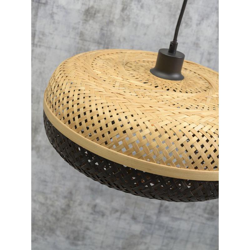 Good&Mojo-collectie Wandlamp Palawan naturel/zwart S