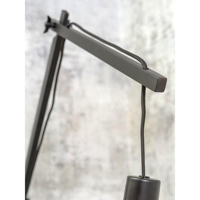 Good&Mojo-collectie Wall lamp Palawan bl./shade 60x15cm nat./black, L