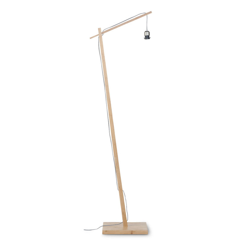 Good&Mojo-collectie Floor lamp Bhutan nat. h.176cm/shade 50x30cm bl./nat. L